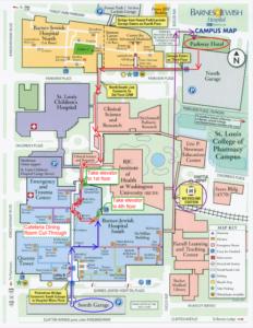 Image map of Washington University Medical Campus