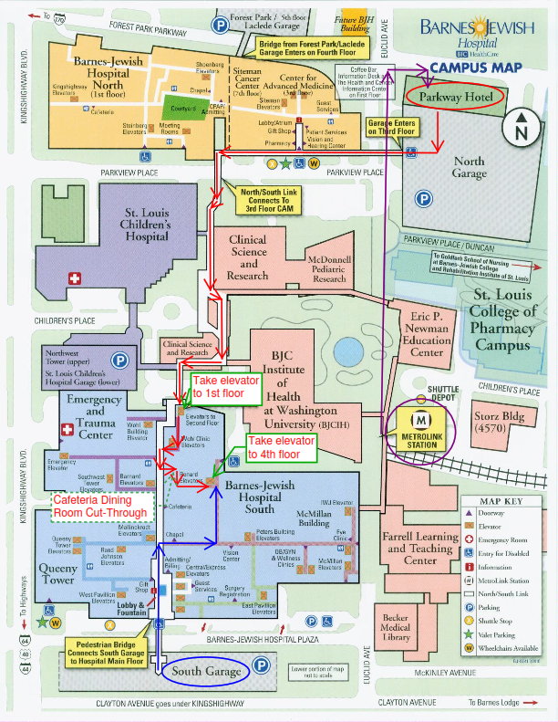 Image map of Washington University Medical Campus